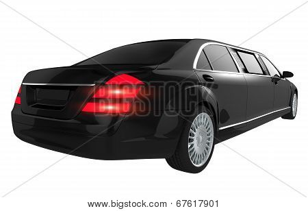 Luxury Limousine Isolated