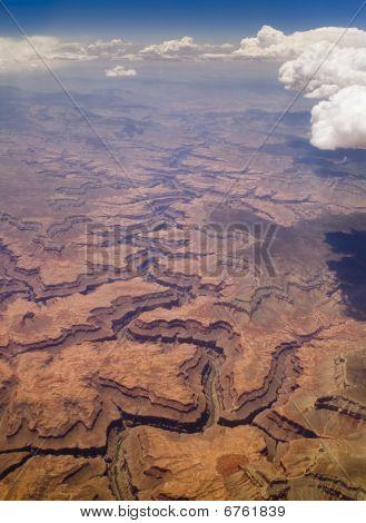 Bird's Eye Image Of Grand Canyon.