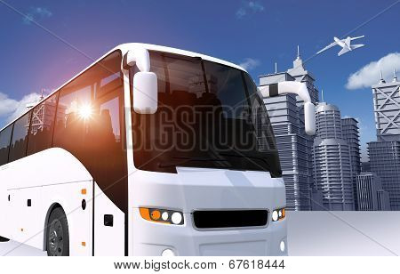 Bus In The City Illustration