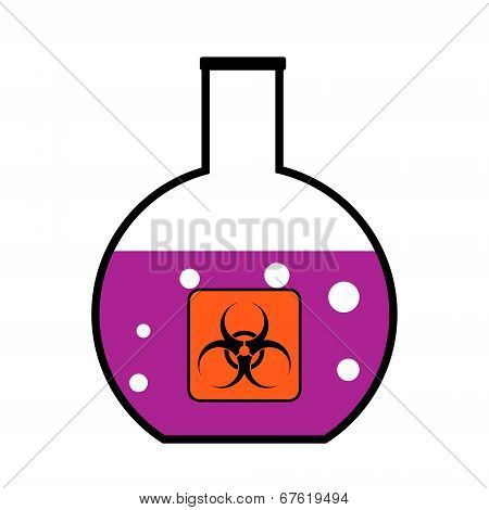 Laboratory Flask With Biological Weapons