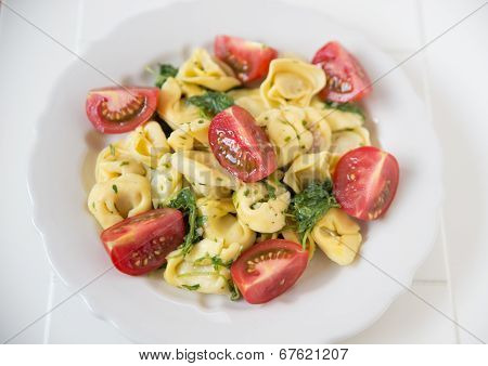 Italian Tortellini with tomatoes