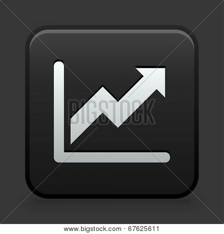 Chart Icon on Black and White Button