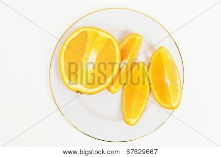 Slices Of Oranges From Above