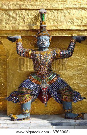 Detail Of Golden Stupa, Demon