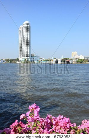 Romantic View On The River In Bangkok