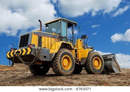 Rückansicht des Diesel Wheel Loader bulldozer