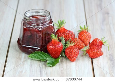 Strawberry Jam With Fresh Strawberries
