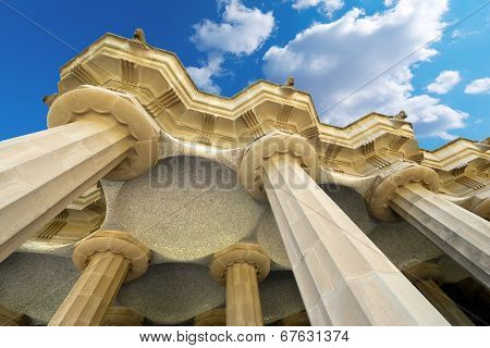 Room Of 100 Columns - Park Guell Barcelona
