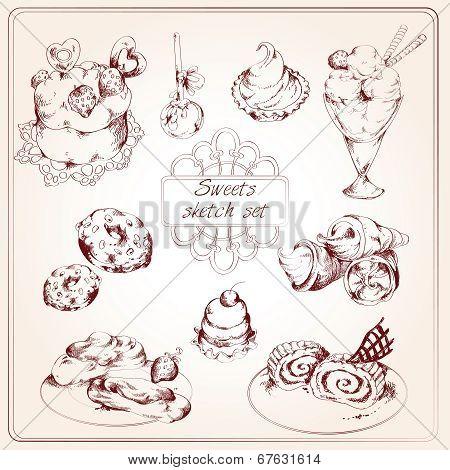 Sweets sketch set