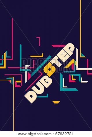 Dub step poster design. Vector illustration.