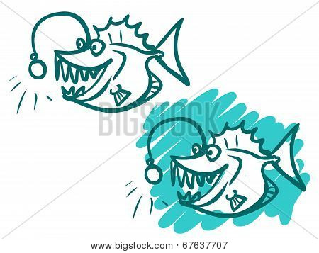 The Illustration Of A Cartoon Sea Monster.