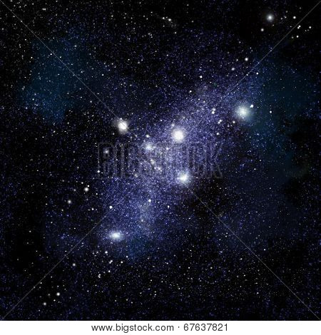 Abstract space background with stars and starfield