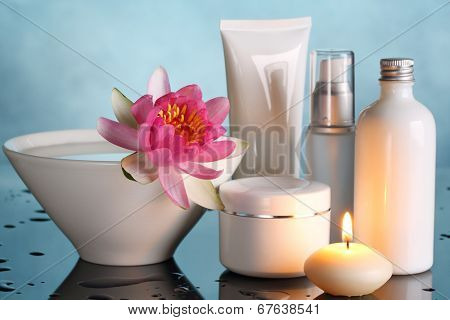 Perfume bottles with lotus flower