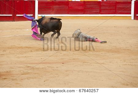 Torero Stretched Out On Sand