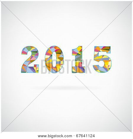 Creative Happy New Year 2015 Text Design