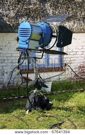 Film Equipment on the Hallig Langeness