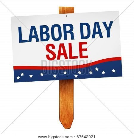 Labor Day Sale Sign Isolated On White Background