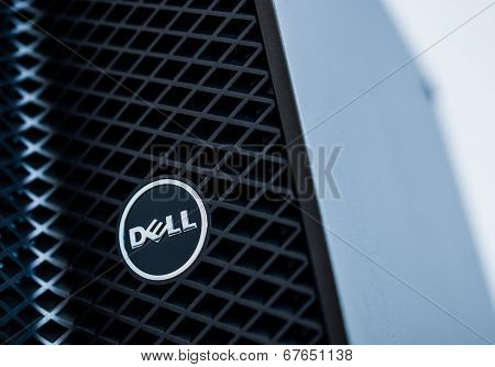 Dell Logo On A Server