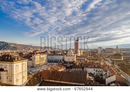 Turin (torino), Panorama From The Cathedral Bell Tower