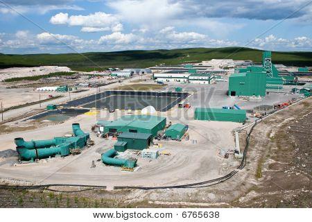 Sitio de la mina de uranio en el norte de Canadá