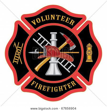 Volunteer Firefighter Maltese Cross