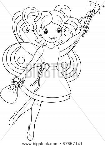 tooth fairy coloring page