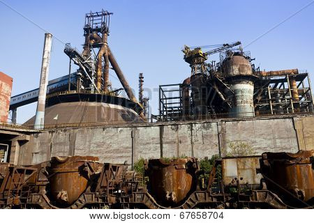 old steel mill.