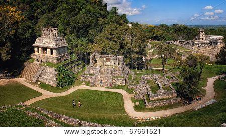 Mayan Ruins In Palenque, Chiapas, Mexico