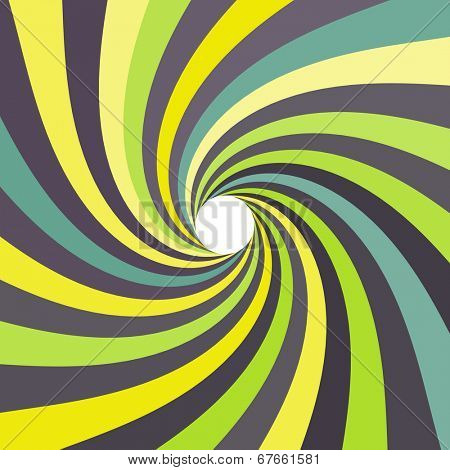 3d spiral abstract background. Optical Art. Vector illustration.