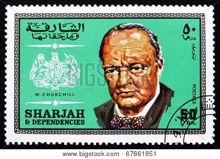 Postage Stamp Spain 1969 Winston Churchill, British Politician