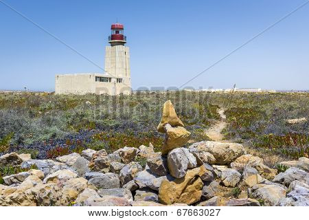 Sagres Fortress Lighthouse In Portugal