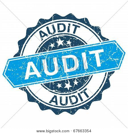 Audit Grungy Stamp Isolated On White Background