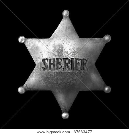 The old sheriff s badge