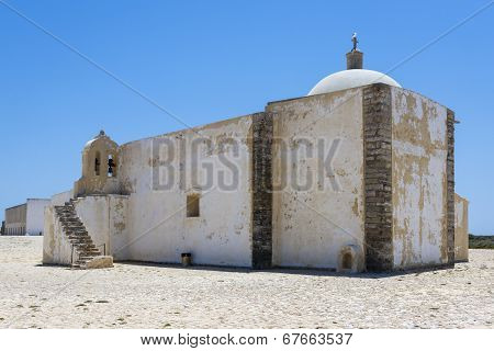 Little Chapel Of Fortaleza De Sagres In Portugal