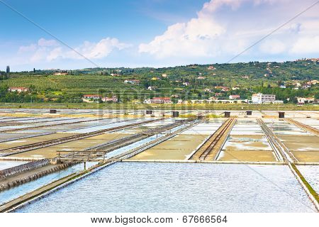 Salt evaporation ponds