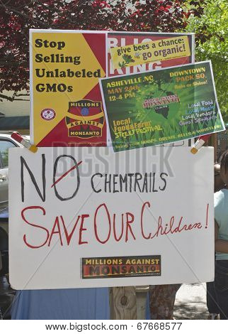 Monsanto And Gmo Foods Protest Rally