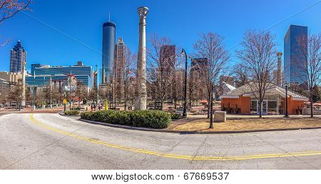 Atlanta, Ga, Usa, March 5, 2014 - Centennial Olympic Park Was Built For The Centennial 1996 Summer O