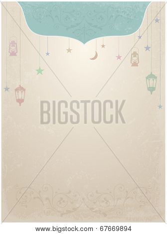 Ramadan theme decorative template