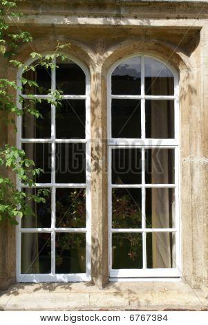 Window Of Residential House In Jesus College Cambridge University