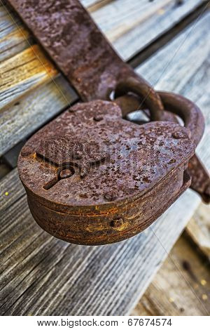 Old Padlock On Gatees