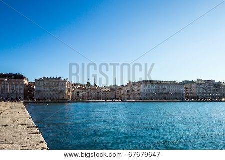 Sea in front of Trieste, Italy