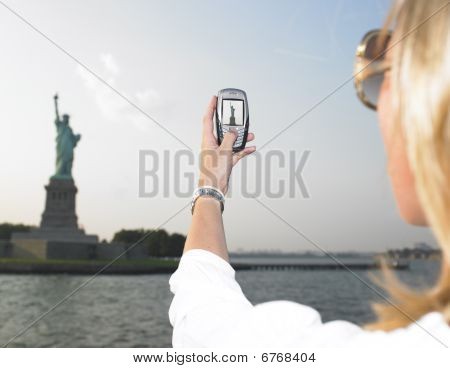 Woman On Vacation In Nyc