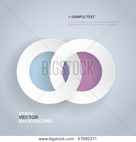 Papercut Rings Background Design for Infographics