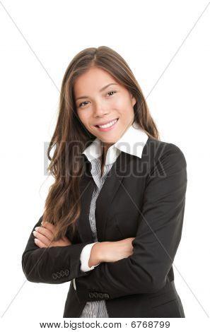 Hermosa joven empresaria de Asia
