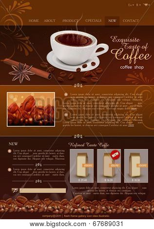 vector template site coffee shop