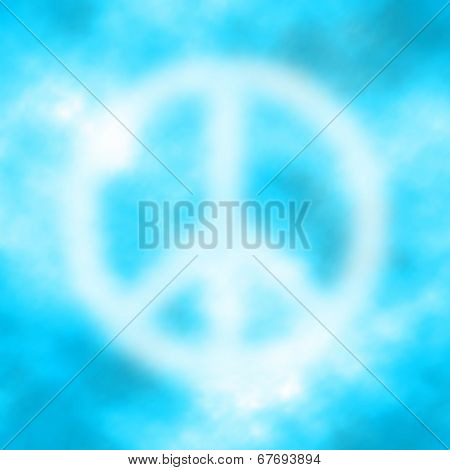 pacific sign in blue sky. vector eps10