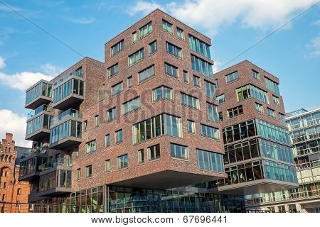 Modern building in the Hafencity