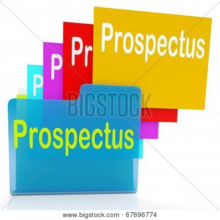 Prospectus Files Shows Folder Inform And Business