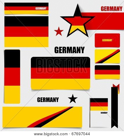 Collection of Germany Flags, Flags concept design. Vector illustration.