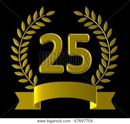 Twenty Five Shows Happy Anniversary And Anniversaries